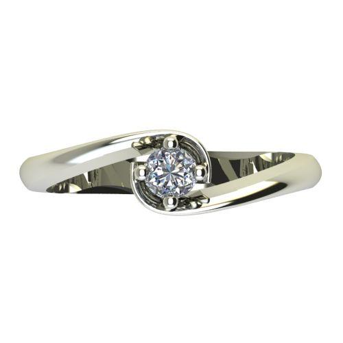 Годежен Пръстен бяло злато с диамант Unity 0,12 ct. 2405 a