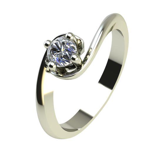 Годежен Пръстен бяло злато с диамант Unity 0,12 ct. 2405
