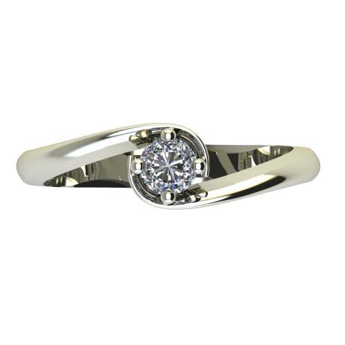 Годежен Пръстен бяло злато с диамант Unity 0,17 ct. 2406 a