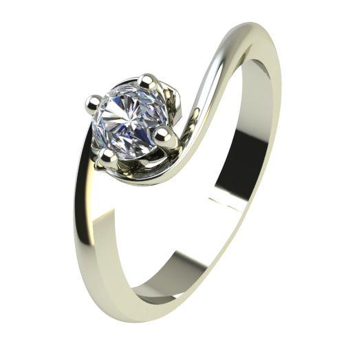 Годежен Пръстен бяло злато с диамант Unity 0,17 ct. 2406