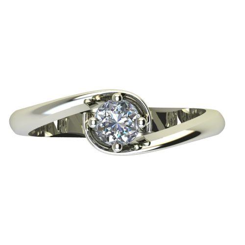 Годежен Пръстен бяло злато с диамант Unity 0,25 ct. 2407 a