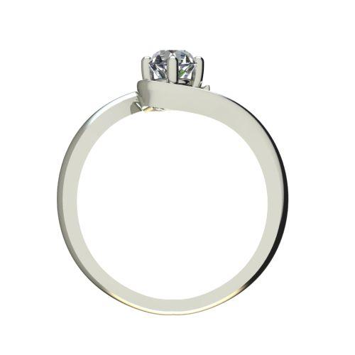 Годежен Пръстен бяло злато с диамант Unity 0,25 ct. 2407 b