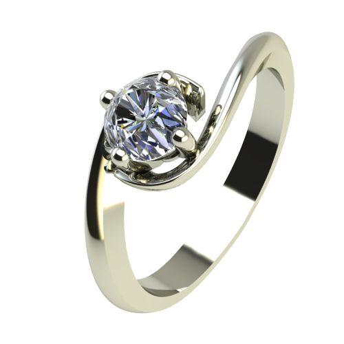 Годежен Пръстен бяло злато с диамант Unity 0,25 ct. 2407