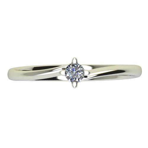 Годежен Пръстен бяло злато с диамант Chase 0,04 ct. 2438 a