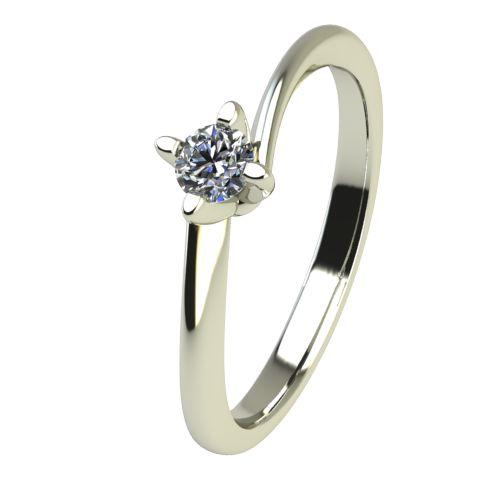 Годежен Пръстен бяло злато с диамант Chase 0,04 ct. 2438