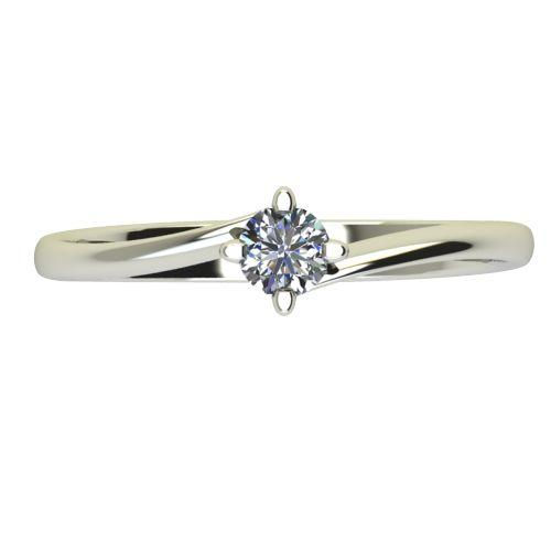 Годежен Пръстен бяло злато с диамант Chase 0,07 ct. 2439 a
