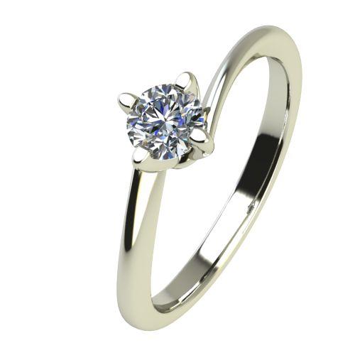 Годежен Пръстен бяло злато с диамант Chase 0,07 ct. 2439