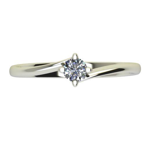 Годежен Пръстен бяло злато с диамант Chase 0,12 ct. 2440 a