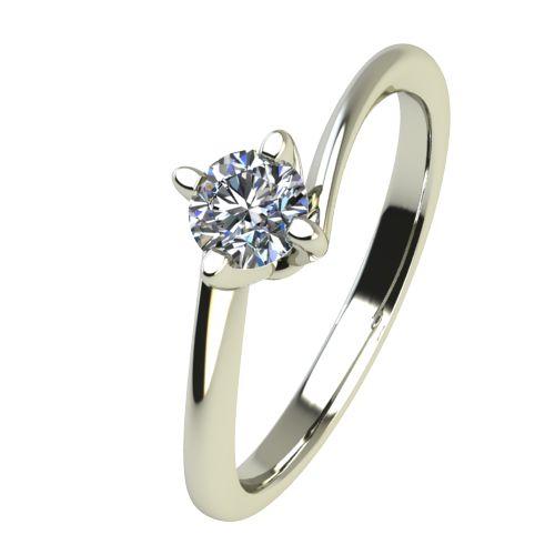 Годежен Пръстен бяло злато с диамант Chase 0,12 ct. 2440