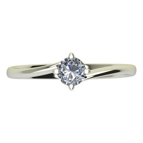 Годежен Пръстен бяло злато с диамант Chase 0,17 ct. 2441 a
