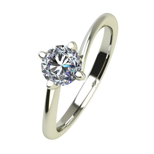Годежен Пръстен бяло злато с диамант Chase 0,17 ct. 2441