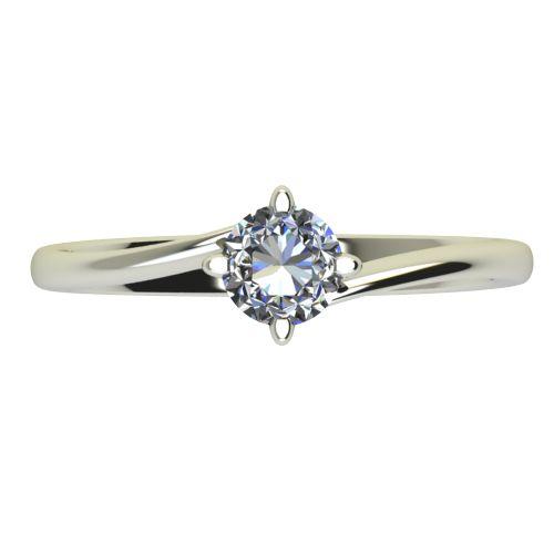 Годежен Пръстен бяло злато с диамант Chase 0,25 ct. 2442 a