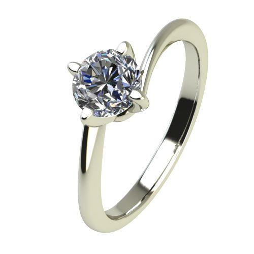 Годежен Пръстен бяло злато с диамант Chase 0,25 ct. 2442