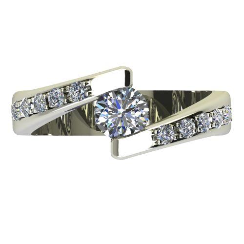 Годежен Пръстен бяло злато с диамант Close 0,40 ct. 2429 a