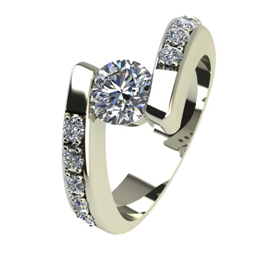 Годежен Пръстен бяло злато с диамант Close 0,40 ct. 2429