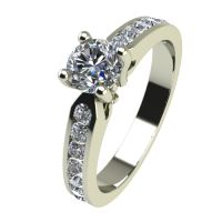 Годежен Пръстен бяло злато с диамант Decor 0,46 ct. 2430