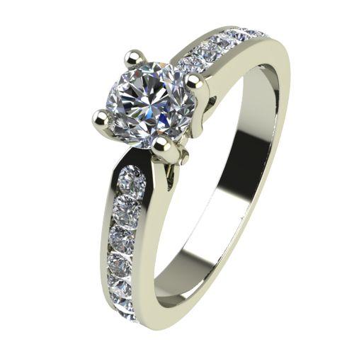 Годежен Пръстен бяло злато с диамант Decor 0,38 ct. 2430