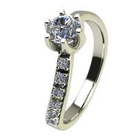 Годежен Пръстен бяло злато с диамант Edge 0,24 ct. 2427