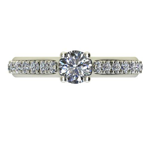 Годежен Пръстен бяло злато с диамант Edge 0,38 ct. 2419 a