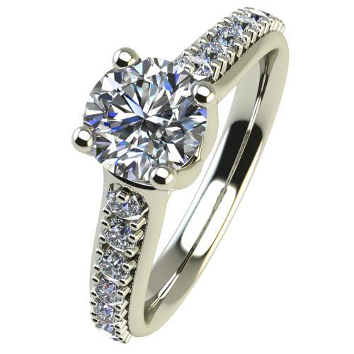 Годежен Пръстен бяло злато с диамант Edge 0,38 ct. 2419