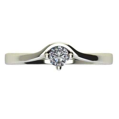 Годежен Пръстен бяло злато с диамант Eyes 0,12 ct. 2420 a
