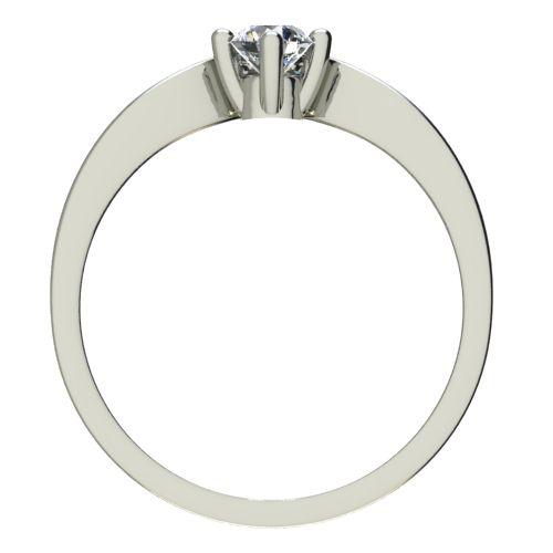 Годежен Пръстен бяло злато с диамант Eyes 0,12 ct. 2420 b