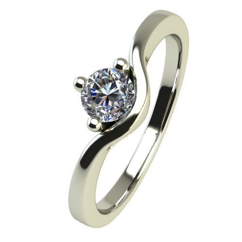Годежен Пръстен бяло злато с диамант Eyes 0,12 ct. 2420