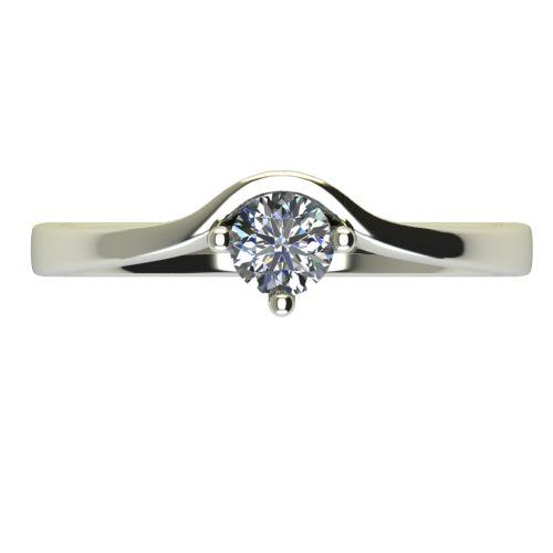 Годежен Пръстен бяло злато с диамант Eyes 0,17 ct. 2421 a