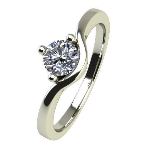 Годежен Пръстен бяло злато с диамант Eyes 0,17 ct. 2421