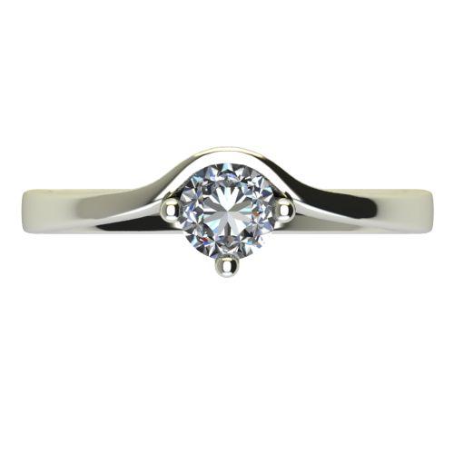 Годежен Пръстен бяло злато с диамант Eyes 0,25 ct. 2422 a