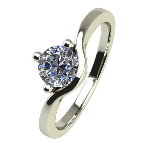 Годежен Пръстен бяло злато с диамант Eyes 0,25 ct. 2422