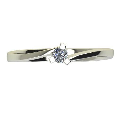 Годежен Пръстен бяло злато с диамант Form 0,04 ct. 2423 a