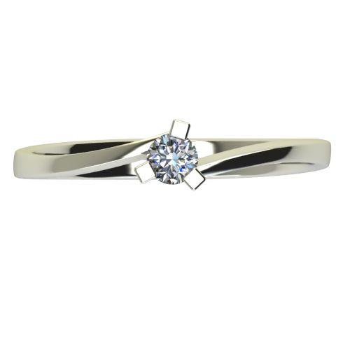 Годежен Пръстен бяло злато с диамант Form 0,07 ct. 2424 a