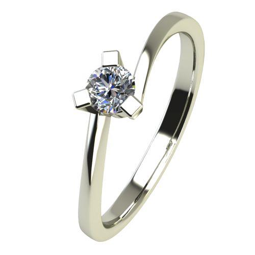 Годежен Пръстен бяло злато с диамант Form 0,07 ct. 2424