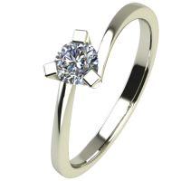 Годежен Пръстен бяло злато с диамант Form 0,12 ct. 2425