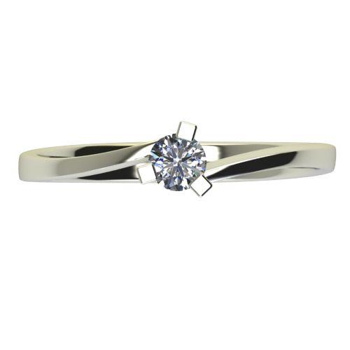 Годежен Пръстен бяло злато с диамант Form 0,12 ct. 2425 a