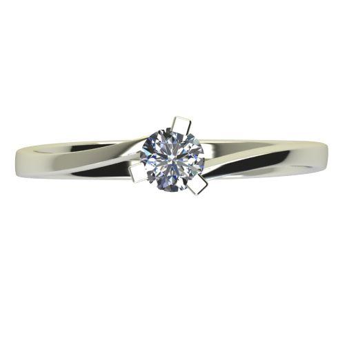 Годежен Пръстен бяло злато с диамант Form 0,17 ct. 2426 a