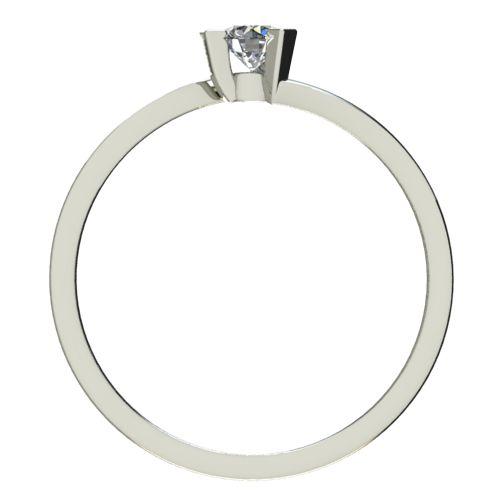 Годежен Пръстен бяло злато с диамант Form 0,17 ct. 2426 b