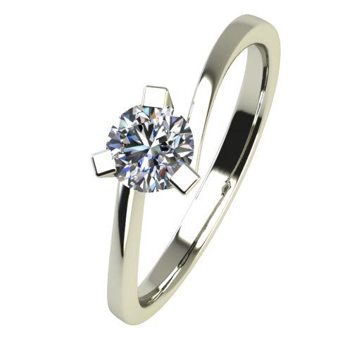 Годежен Пръстен бяло злато с диамант Form 0,17 ct. 2426