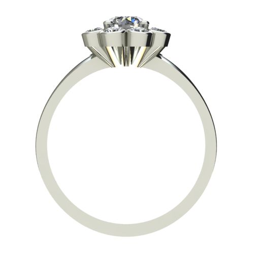 Годежен Пръстен бяло злато с диамант Halo 0,29 ct. 2433 b