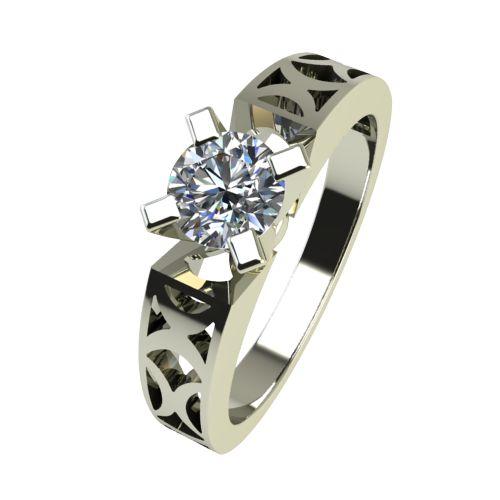 Годежен Пръстен бяло злато с диамант Nets 0,25 ct. 2434