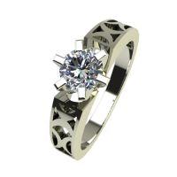 Годежен Пръстен бяло злато с диамант Nets 0,25 ct. 2435