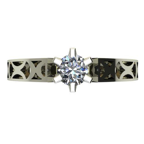 Годежен Пръстен бяло злато с диамант Nets 0,25 ct. 2435 a