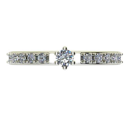 Годежен Пръстен бяло злато с диамант Nova 0,19 ct. 2456 a