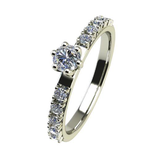 Годежен Пръстен бяло злато с диамант Nova 0,19 ct. 2456