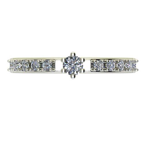 Годежен Пръстен бяло злато с диамант Nova 0,22 ct. 2457 a