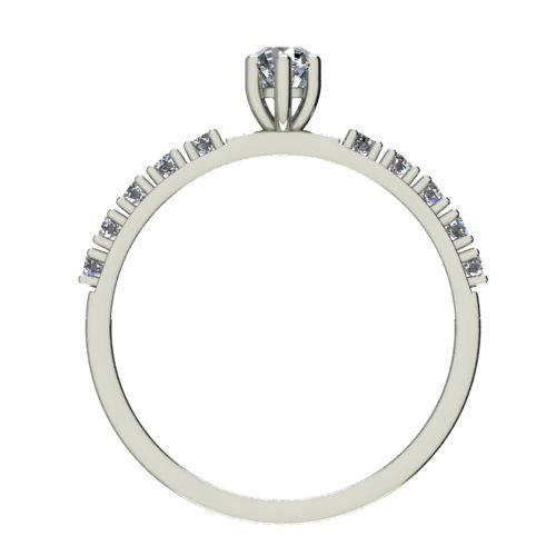 Годежен Пръстен бяло злато с диамант Nova 0,22 ct. 2457 b