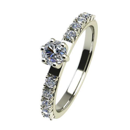 Годежен Пръстен бяло злато с диамант Nova 0,22 ct. 2457
