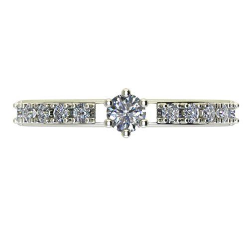 Годежен Пръстен бяло злато с диамант Nova 0,27 ct. 2458 a