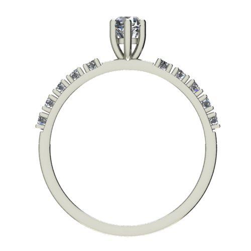 Годежен Пръстен бяло злато с диамант Nova 0,27 ct. 2458 b